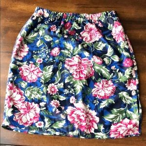 Loft• Floral Skirt